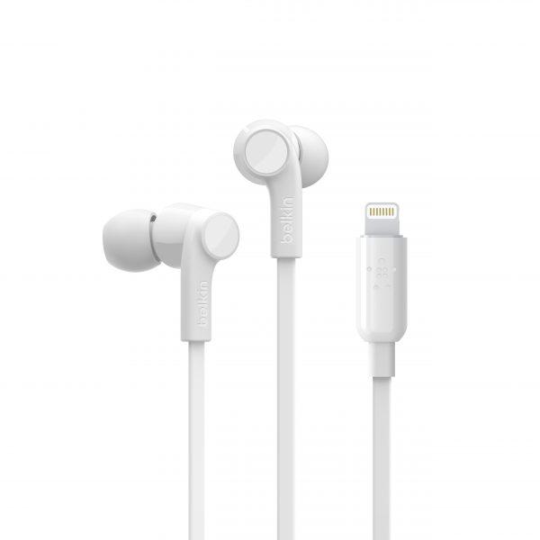 Headphones Belkin White Lightning