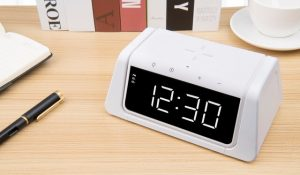 UV Steriliser Wireless Charger Clock